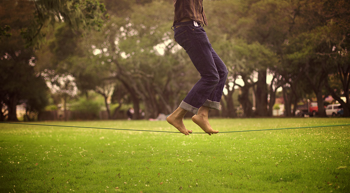 Slacklining as a Way to Better Understand the Core and Breathing